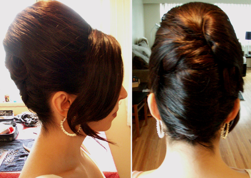 how to make hair style in home beehive wedding hairstyle flickr 6155