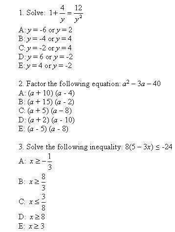 Algebra help, real numbers, formulas, linear, quadratic functions