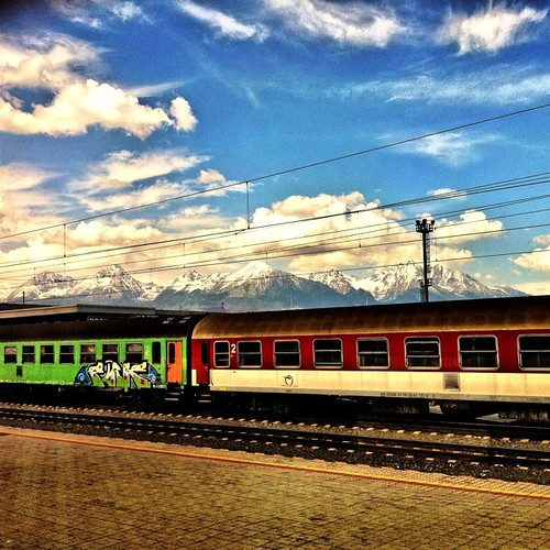 """Take me home ... Country Road ..."" #Slovakia #HighTatra #train #graffiti #mountain 