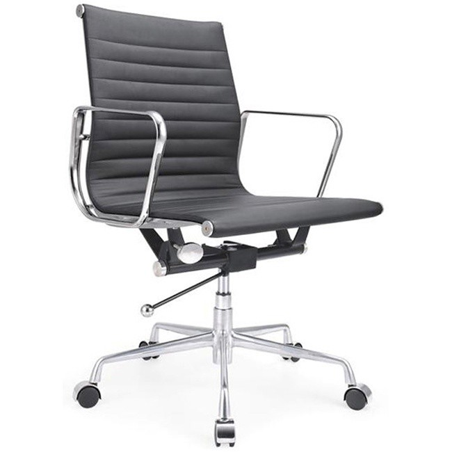 eames style low back lider manhattan office chair in black flickr