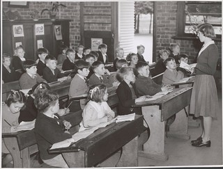 Teacher, Lorraine Lapthorne conducts her class in the Grade Two room at the Drouin State School, Drouin, Victoria | by National Library of Australia Commons