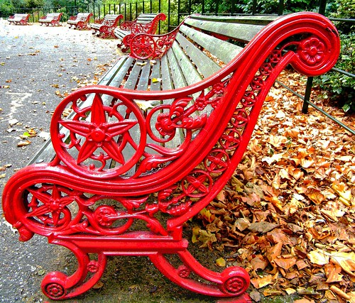 Benches - autumn | by Barbara Aldiss