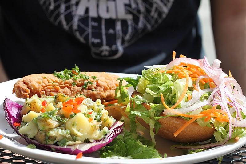 Vegan Chicago Native Foods Cafe Chicken Run Ranch Burger Flickr