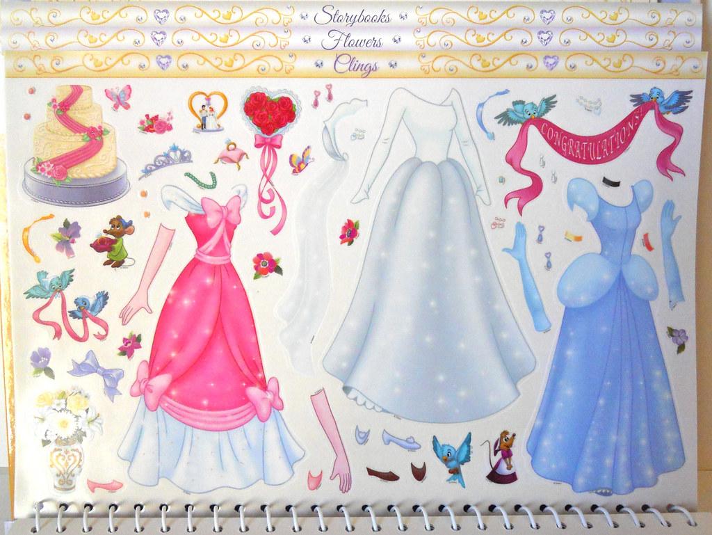 Disney Princess: Wedding Paper Doll Kit Cinderella Clings