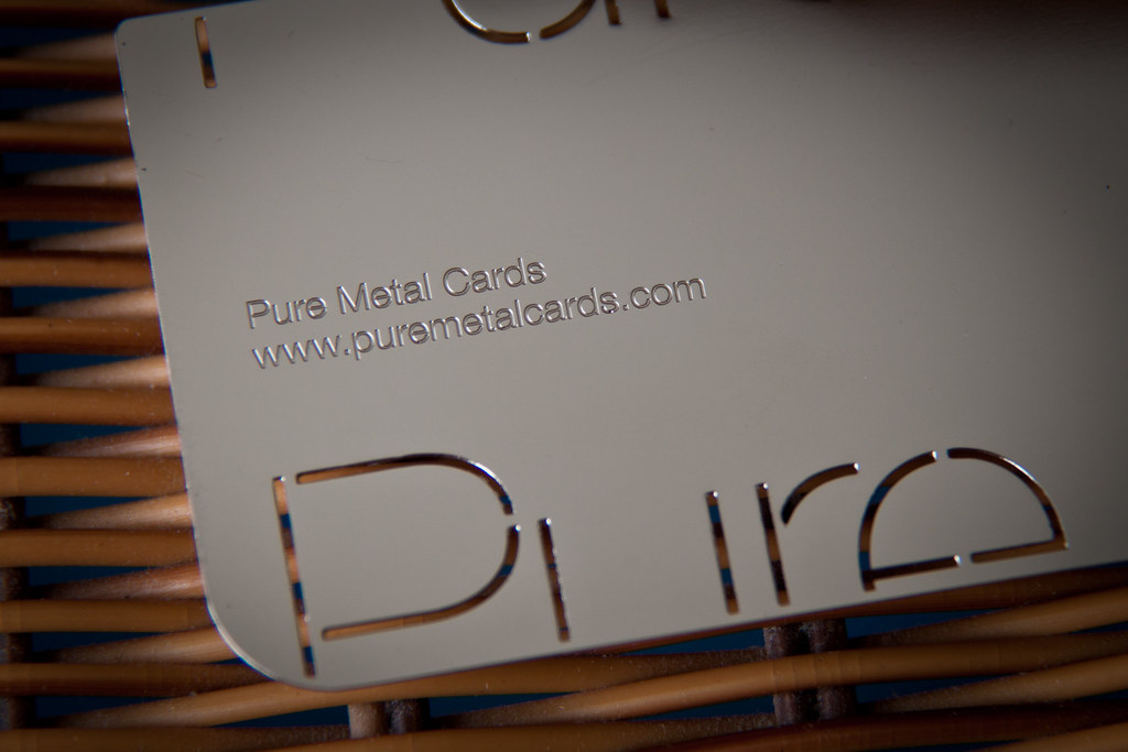 Mirror effect metal business card | Stainless steel metal bu… | Flickr