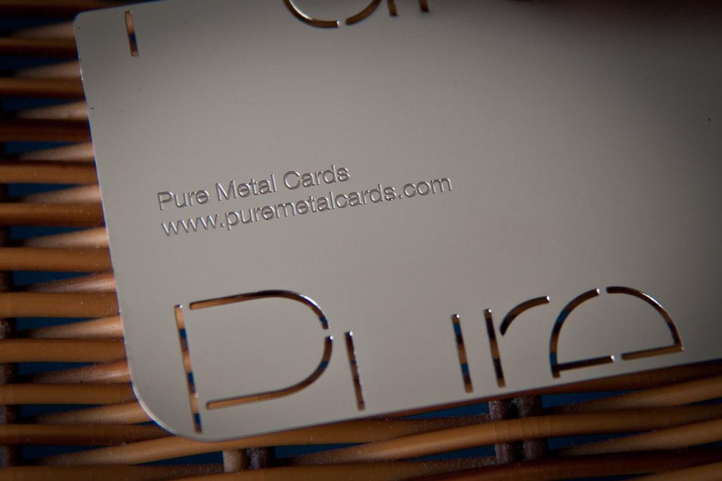 Mirror Effect Metal Business Card Stainless Steel Metal Bu Flickr