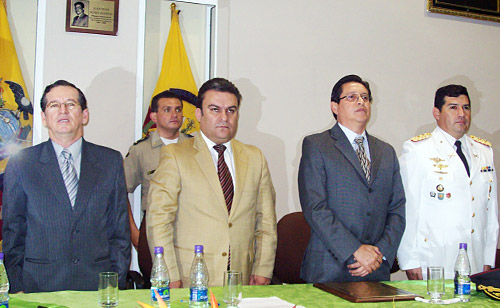 Ministro del interior anuncia obras para regi n fronteriza for Ministerio del interior ecuador
