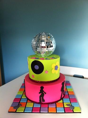 Cake Ideas Disco Birthday Party : Darcie s Disco Cake Disco themed cake for Darcie s 10th ...