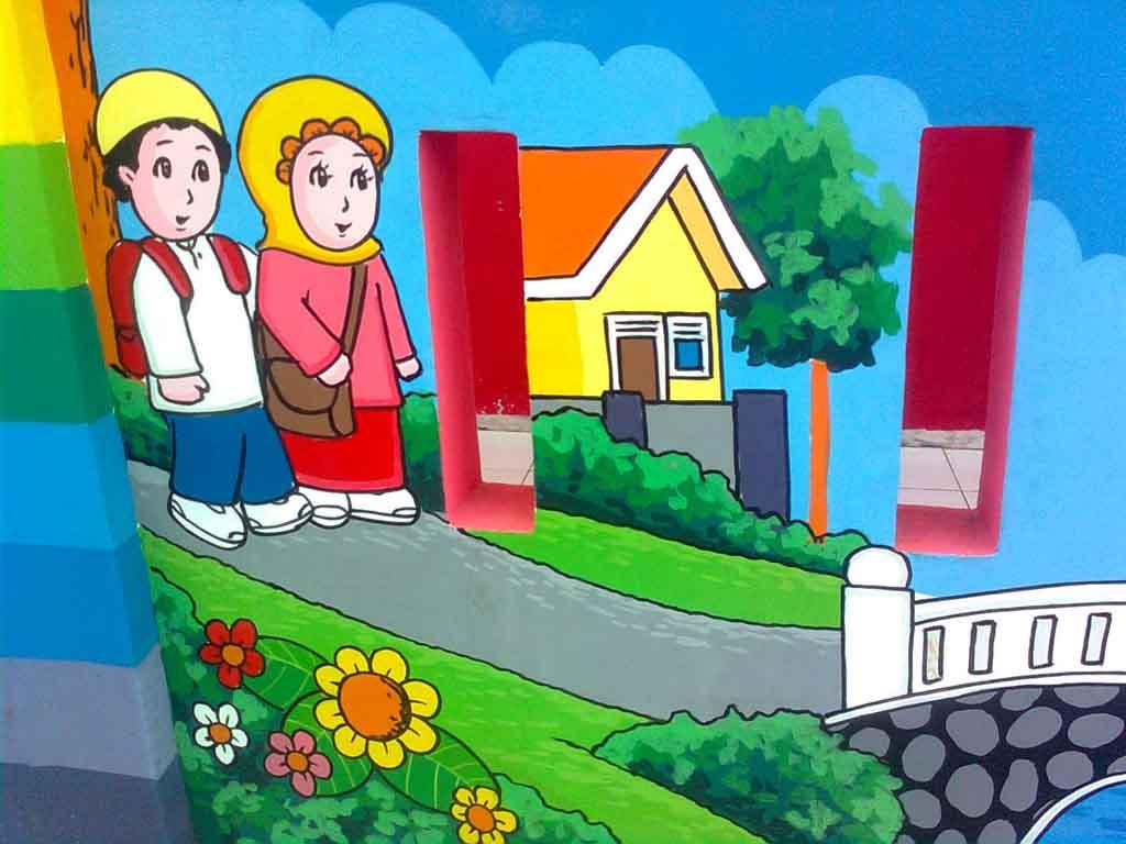 Gambar Kartun Pemandangan Sekolah Gokil Abis