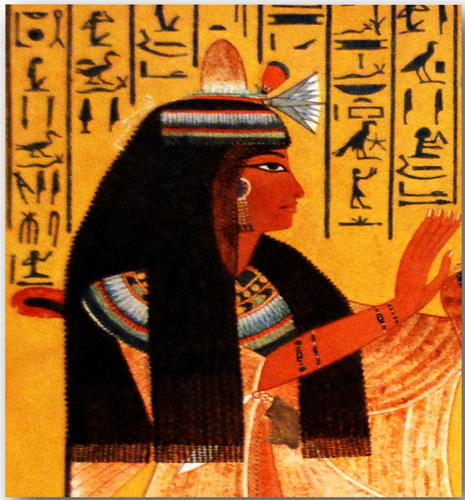 Women in ancient egyptian art 007 facsimile series of for Ancient egyptian mural paintings
