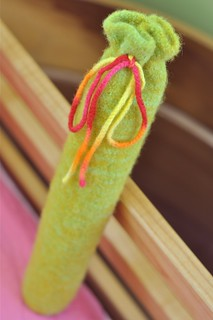 felted recorder bag | by waldorf mama