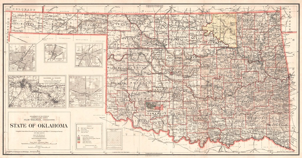 Oklahoma State Map 1914 thornydalemapco Flickr