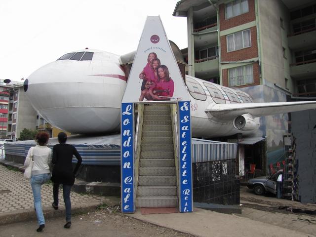 Ethiopia, Addis Ababa: Plane Entrance
