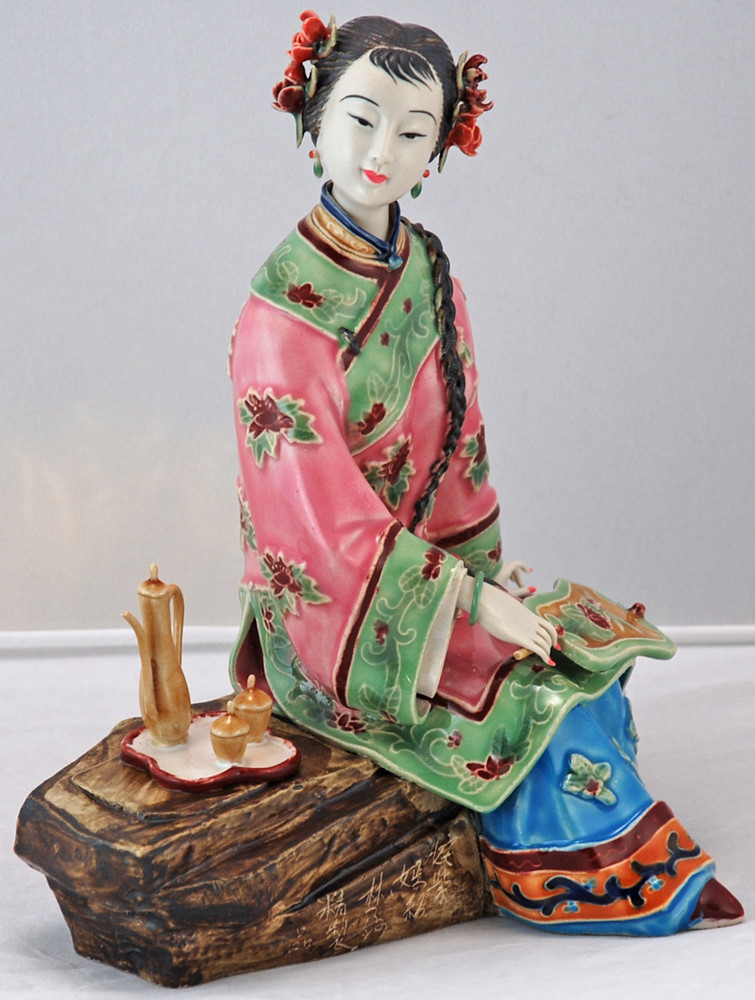 Bk0213y Porcelain Chinese Figurine Porcelain Bisque
