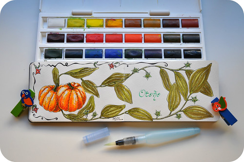 Pumpkins in watercolors | by Marisol Covelo