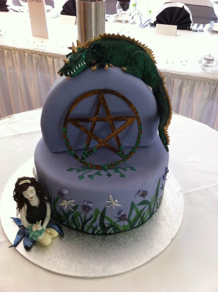 Pagan Dragon Fairy Wedding Cake Becs Cakes Flickr