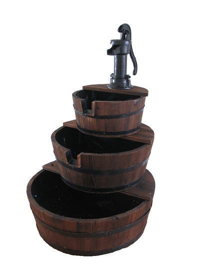Wooden Water Fountains Self Contained Corner Water