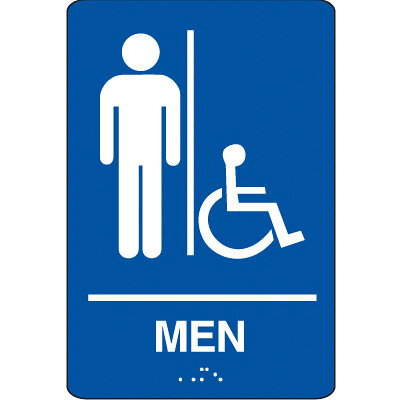 Men S Bathroom Sign Handicap Accessible