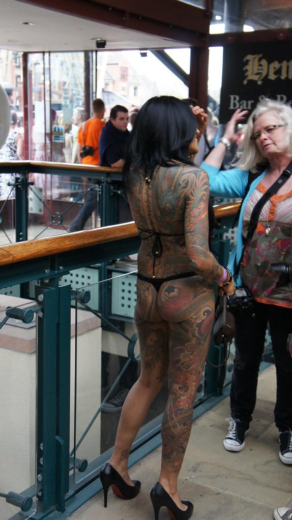 Back Of Woman Full Body Art