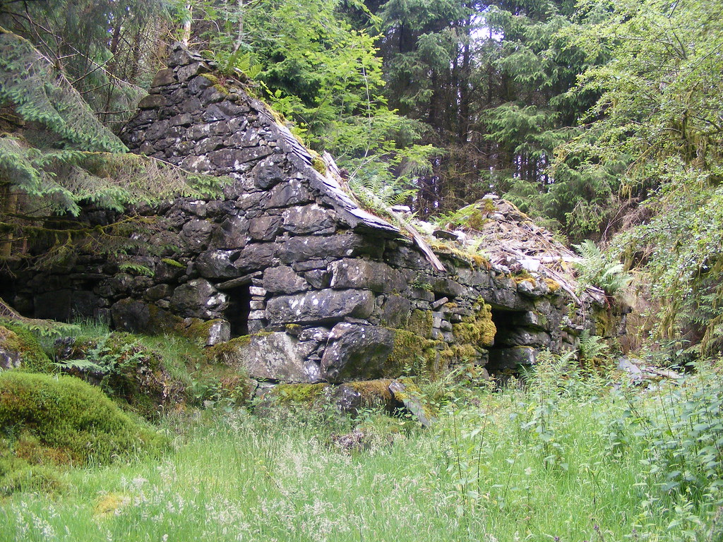 Old Stone Cottage In Woods