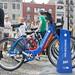 Bike share bikes