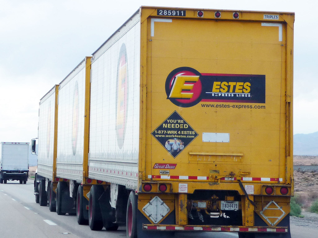 Estes Triple Trailer Truck Estes Express Lines Founded