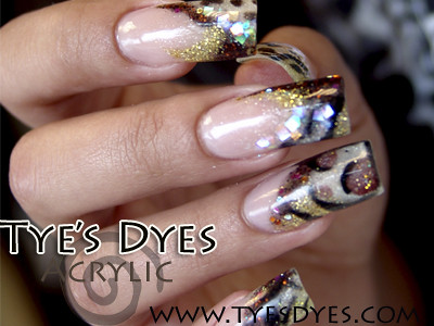 Vegas Animal Print Nails Acrylic Nail Designs Animal Prin Flickr