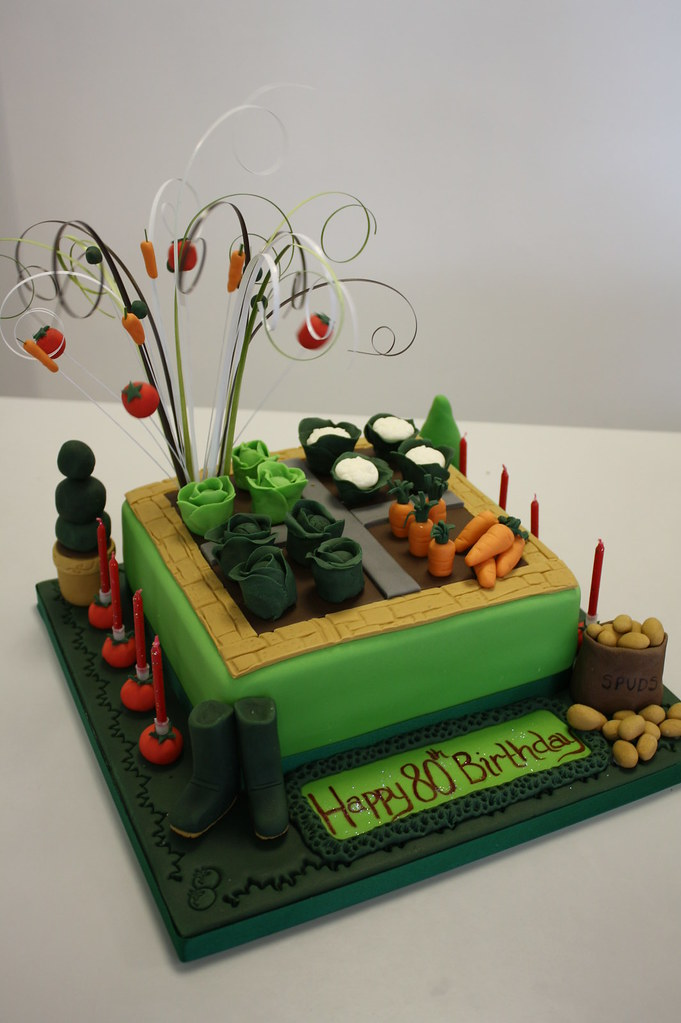 Gardening Birthday Cake Ideas