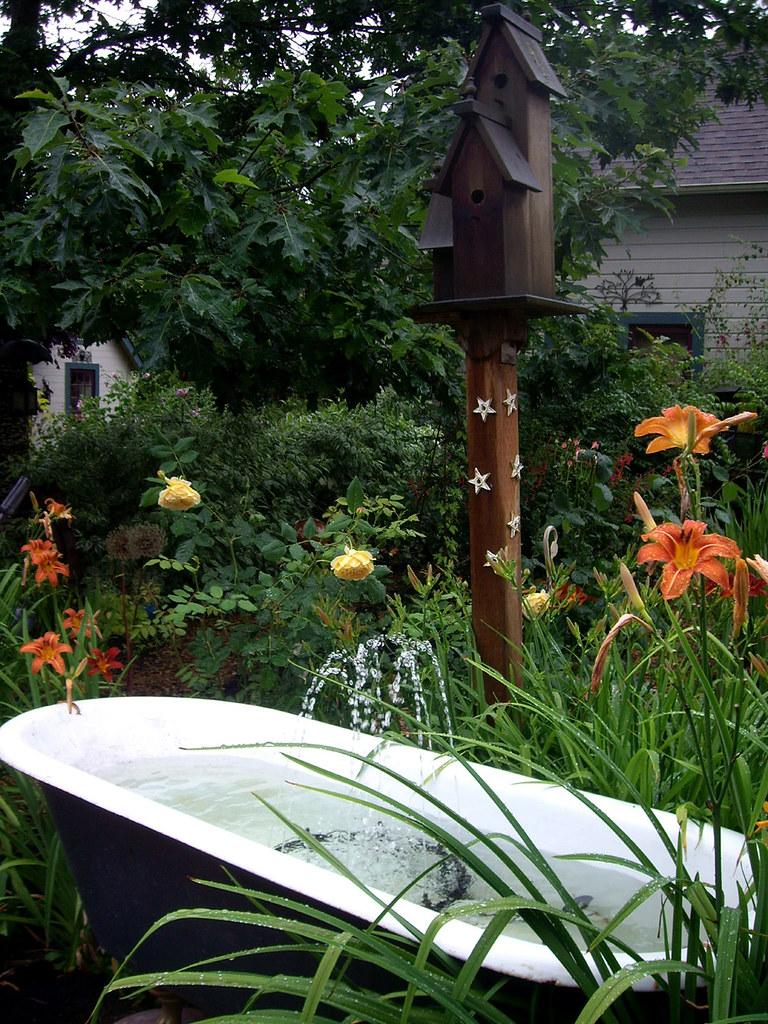 Claw Foot Cast Iron Tub As Garden Fountain Metro Tour Of