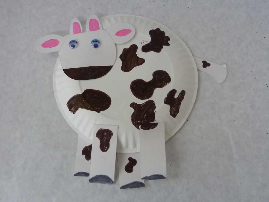 Paper Plate Cow Craft Allkidsnetworkcom Iread Flickr & Cow Paper Plates - Castrophotos