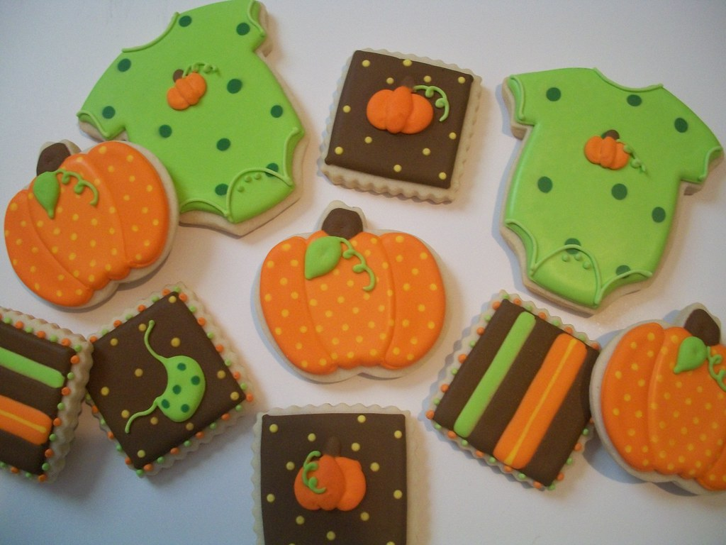 Fall Baby Shower Cookies The Theme Of The Shower Is A Lit Flickr