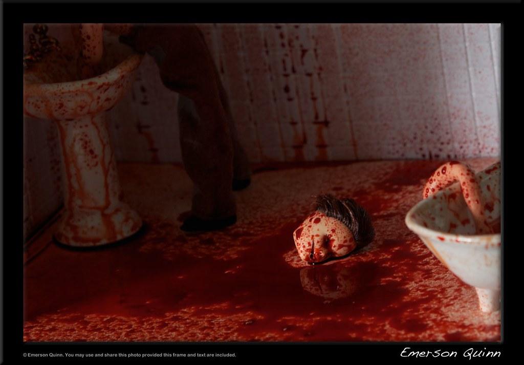 . bloody bathroom murder scene   Very bloody bathroom murder   Flickr