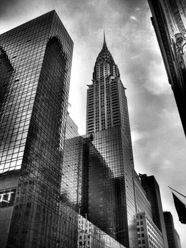 Chrysler Building New York Black And White