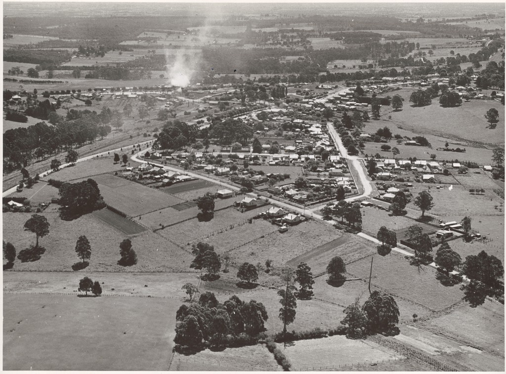 Drouin Australia  city photos gallery : Aerial view of Drouin, Victoria, during World War II [4] | Flickr ...