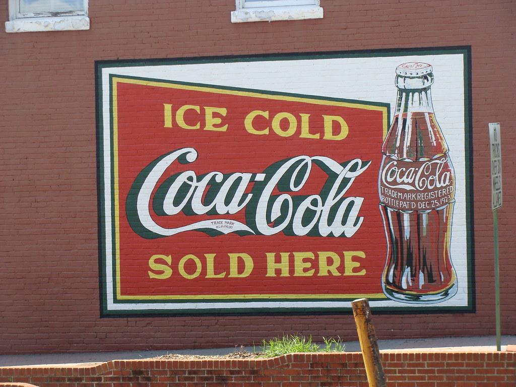 Coca cola wall mural douglasville ga christmas coca for Coca cola wall mural
