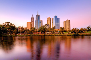 Melbourne CBD from South bank | by Travellers Travel Photobook