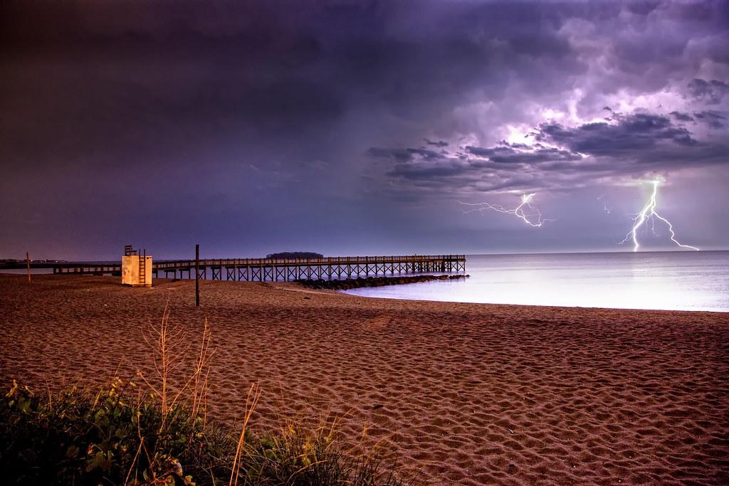 Walnut Beach Lightning Storm Walnut Beach Milford Ct