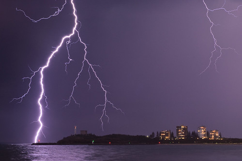 Lightning in Mooloolaba | by somebear