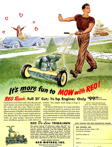 1950 ... loves his mower! | by x-ray delta one