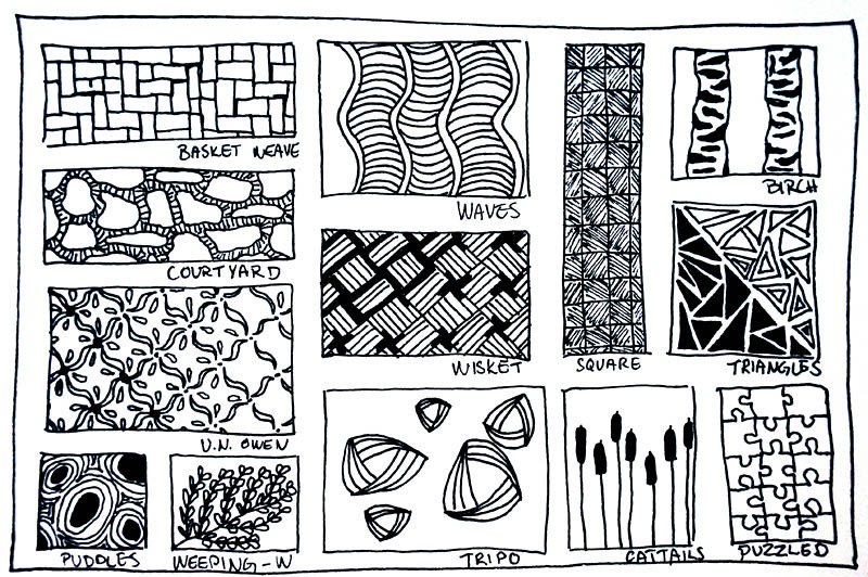 Zentangle 60 Patterns 60 A Way Of Keeping Track Of The V Flickr Custom Zentangle Patterns