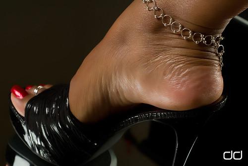 Speaking, dangling high heels mules tgp