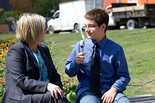 Teen reporter Ryan Rocca talks school fees with Andrea-3501 | by Ontario NDP