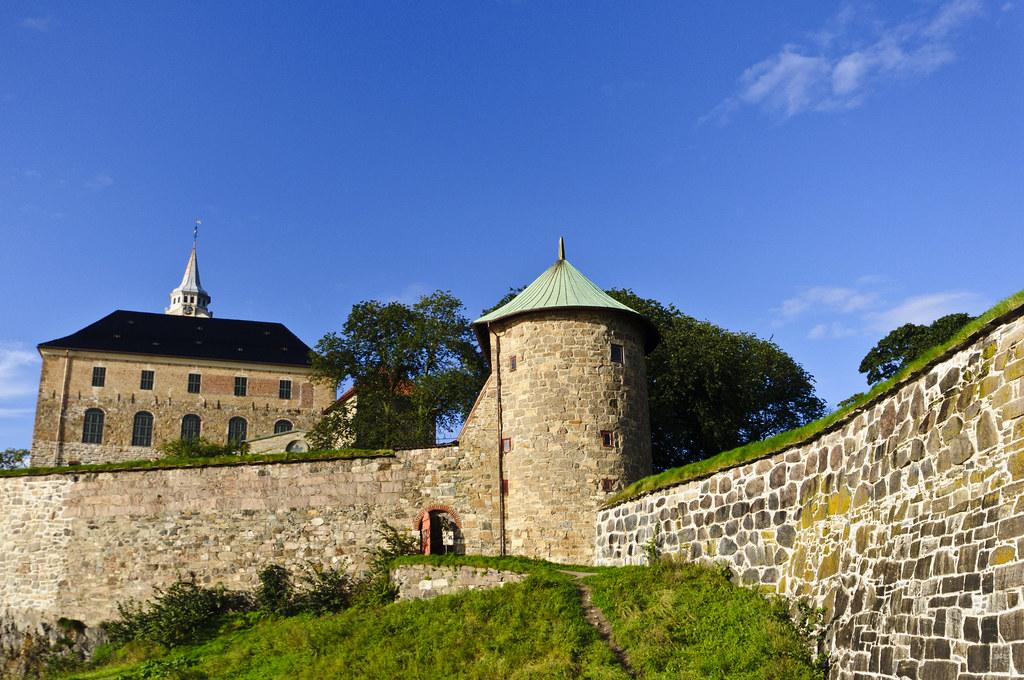 Akershus Fortress in autumn sun