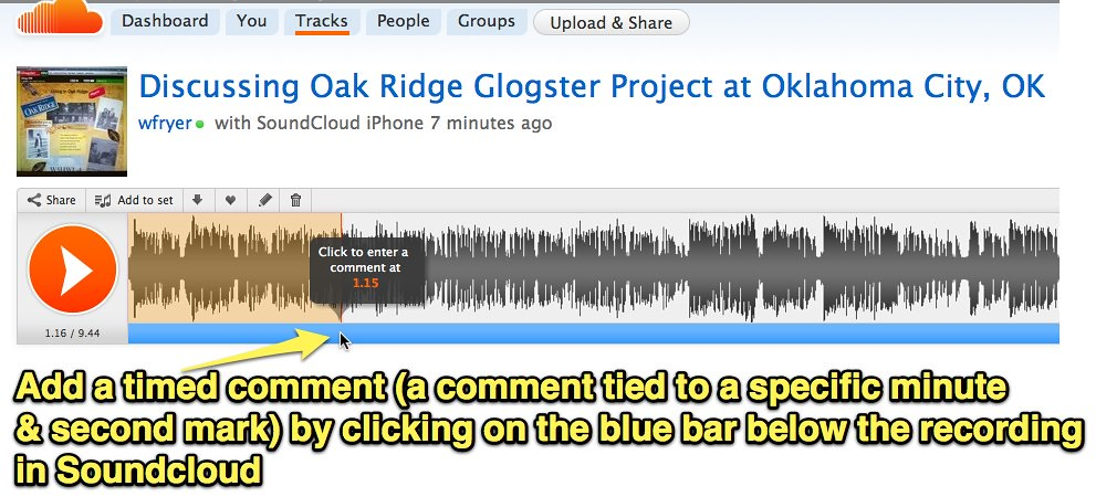 ... Add a timed comment in SoundCloud - by Wesley Fryer