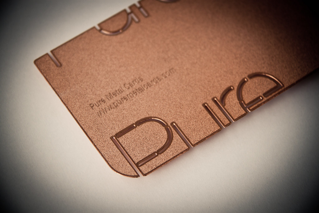 Copper Metal Business Card | Business cards cut or etched in… | Flickr