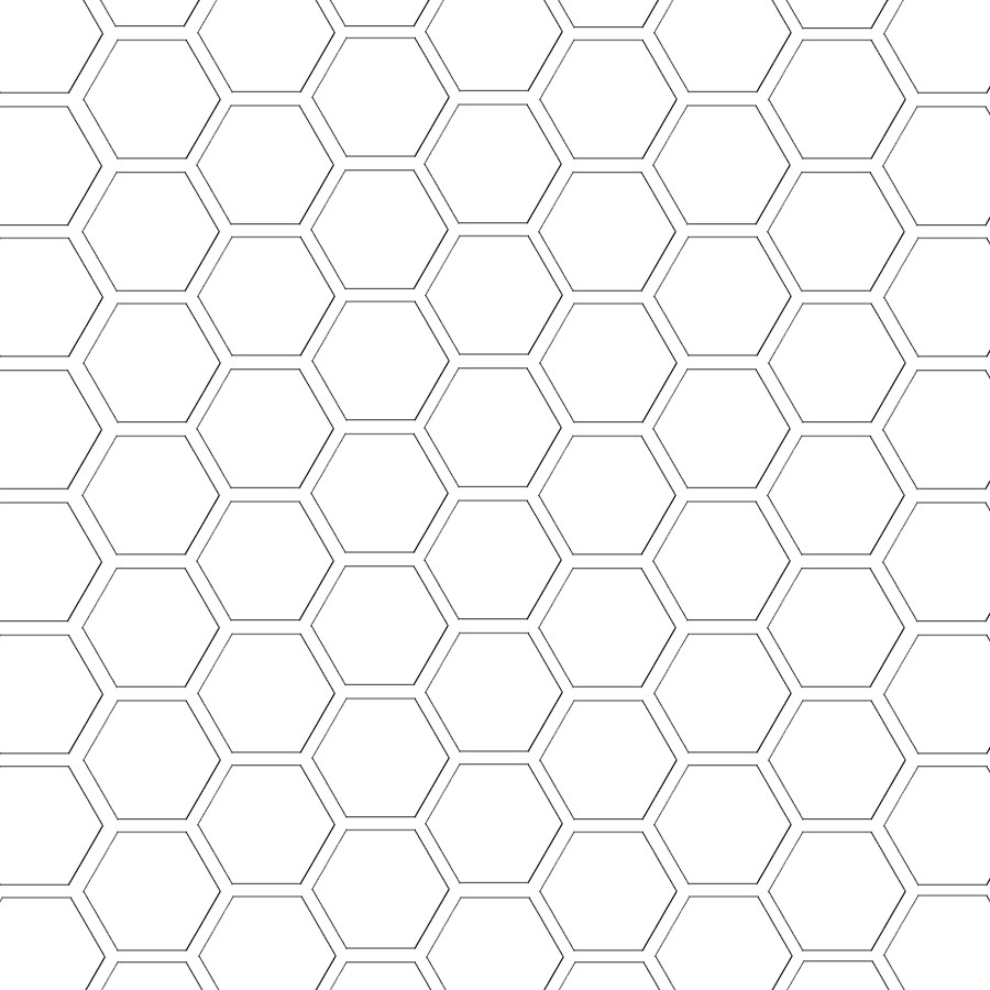 Hexagon Pattern Template 12 And A Half Inch Sq Mel Stampz