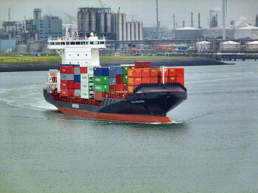 Unifeeder Small Container Ship Iris Bolten Departs Eur