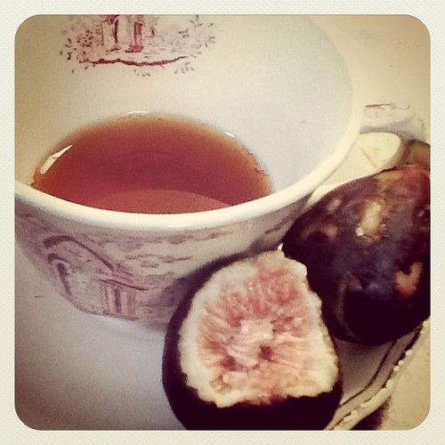 PG Tips and a lucious pair of fresh figs. | by elle.boudreau