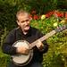 Banjo in the garden