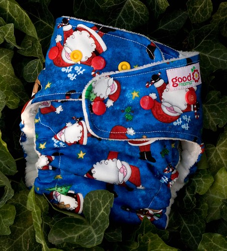 Kris Kringle Jingle One-Size Fitted Diaper | by thegoodmama.com